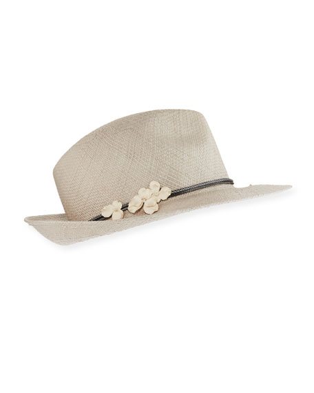 Jane Taylor Flavia Straw Panama Hat