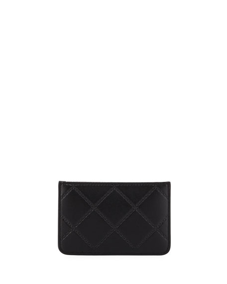 Georgia Quilted Zip Card Case