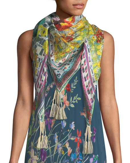 Johnny Was Linsu Maxi Printed Tank Dress and
