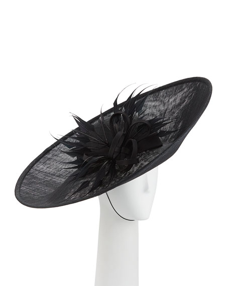 Rachel Trevor Morgan Straw Side Sweep Hat w/