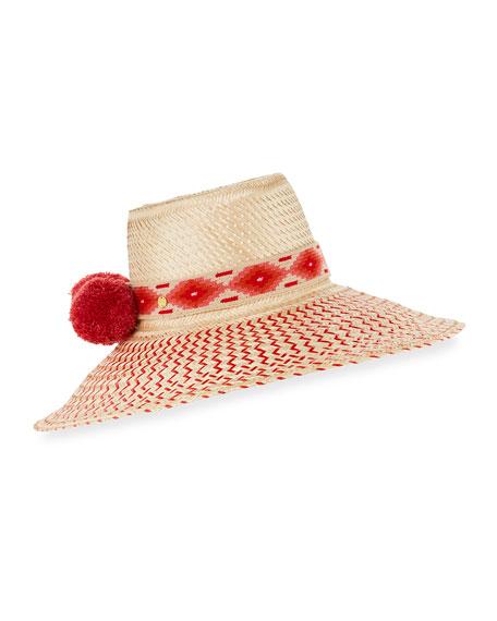 Guanabana Handmade Guajiro Zigzag Mawisa Sun Hat