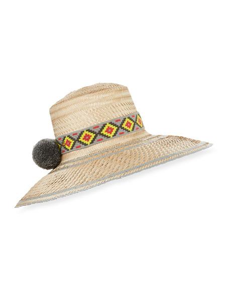 Guanabana Handmade Guajiro Fringed Mawisa Sun Hat with