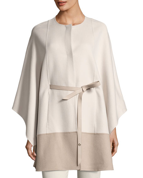 Loro Piana Sporty Double-Face Cashmere Cape