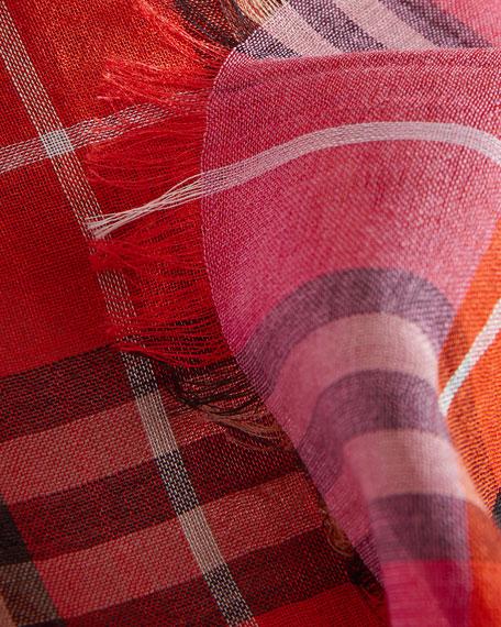 Vintage Check Wool-Silk Scarf