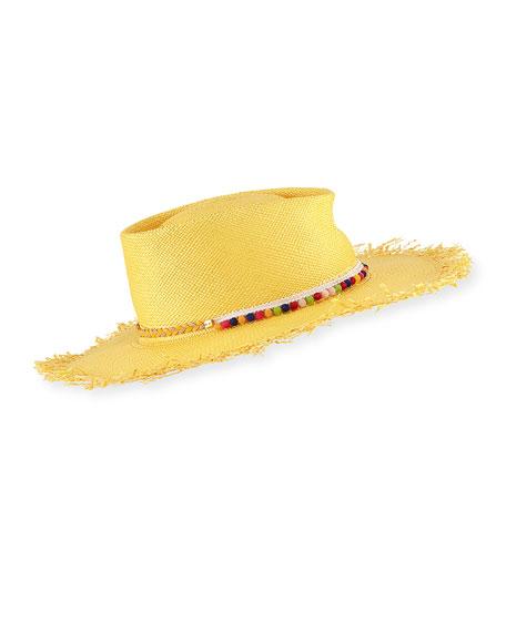 Gladys Tamez Naomi Panama Straw Hat