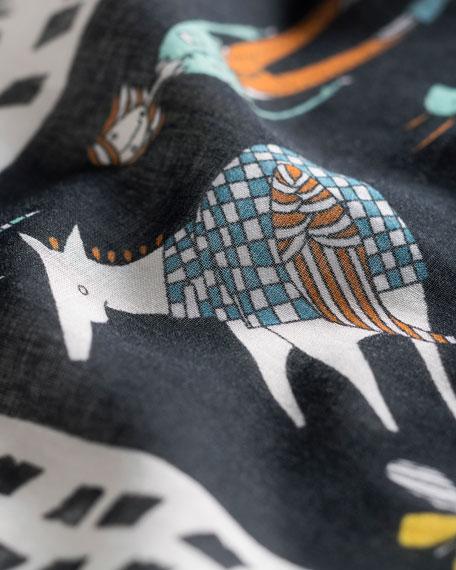 Sharing One Saddle Printed Scarf