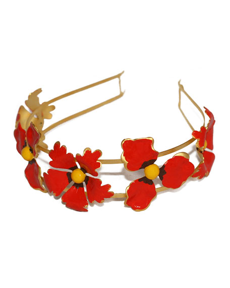 Epona Valley Wild Poppies Hand-Painted Headband