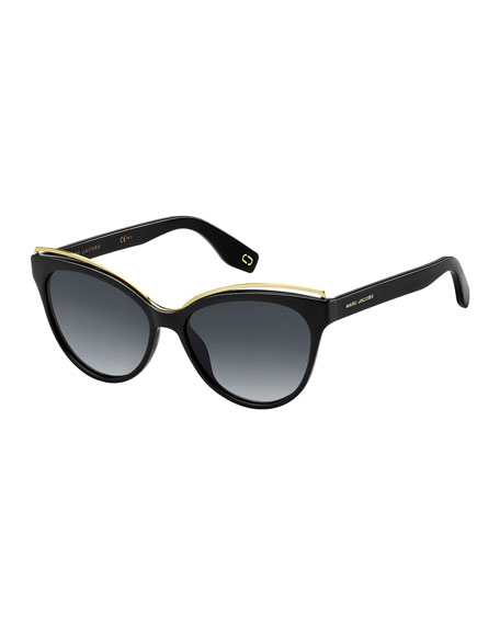 Marc Jacobs Contrast round sunglasses