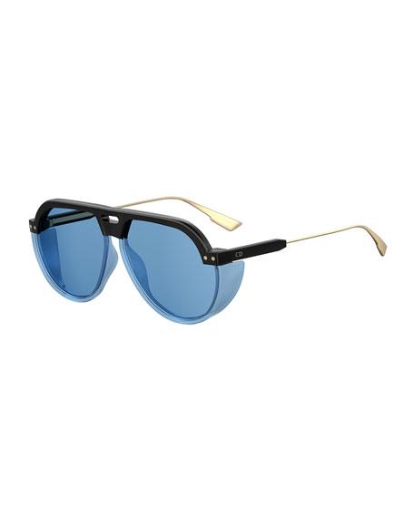 1aea833caa Dior DiorClub3 Aviator Sunglasses w  Side Blinders