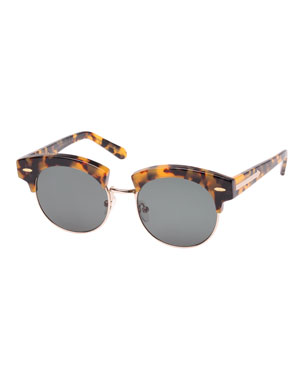 9ddb0d87ac Karen Walker The Constable Round Half-Rim Sunglasses