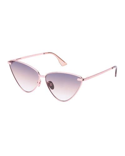 Nero Angled Metal Cat-Eye Gradient Sunglasses