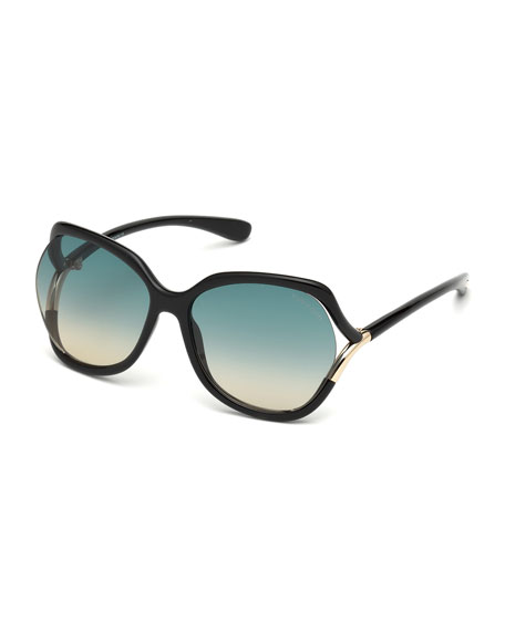 Image 1 of 1: Open-Temple Gradient Sunglasses