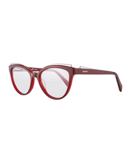 Balmain Cat-Eye Acetate Optical Frames