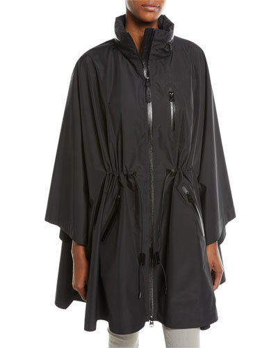 Sanna Packable Poncho Cape w/ Removable Hood