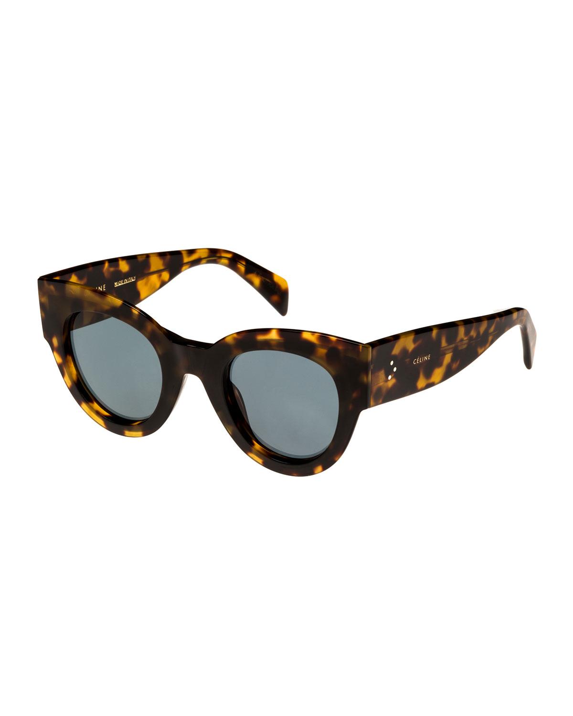 f42f1050acb6a Celine Acetate Cat-Eye Universal-Fit Sunglasses