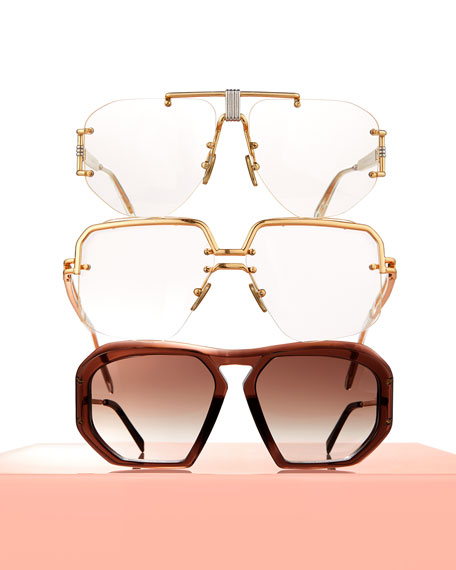 Square Gradient Acetate Sunglasses