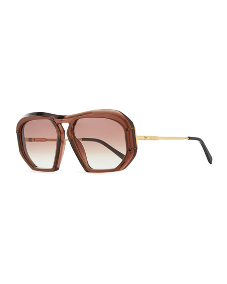 Celine Square Gradient Acetate Sunglasses