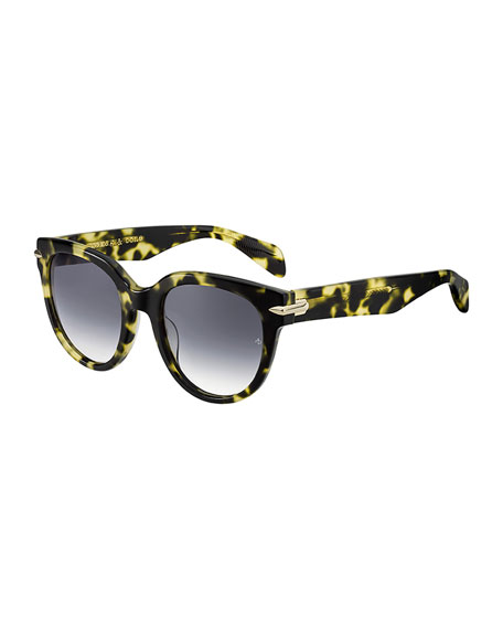 Rag & Bone Round Gradient Acetate Sunglasses
