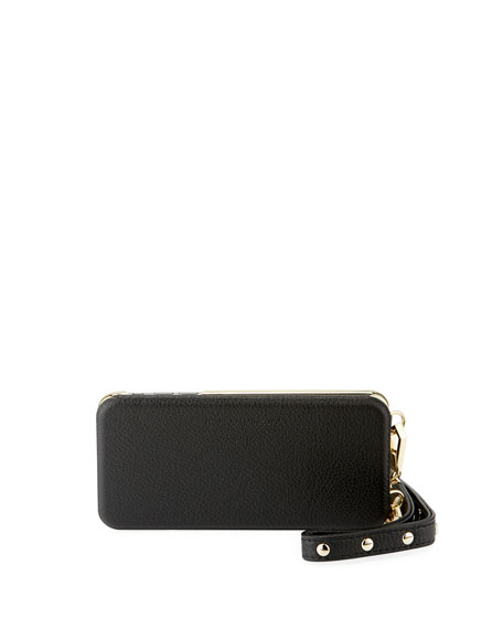Rebecca Minkoff Mirrored Leather Folio Phone Case for