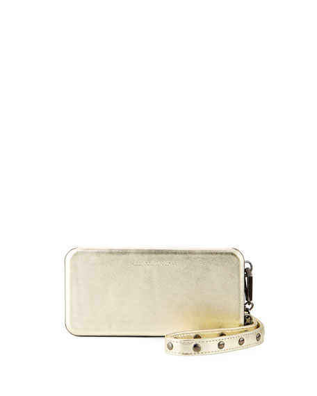 Rebecca Minkoff Mirrored Metallic Leather Folio Phone Case