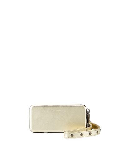 Mirrored Folio Phone Case for iPhone 7/8, Metallic Gold