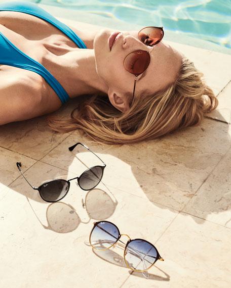 Blaze Round Mirrored Sunglasses