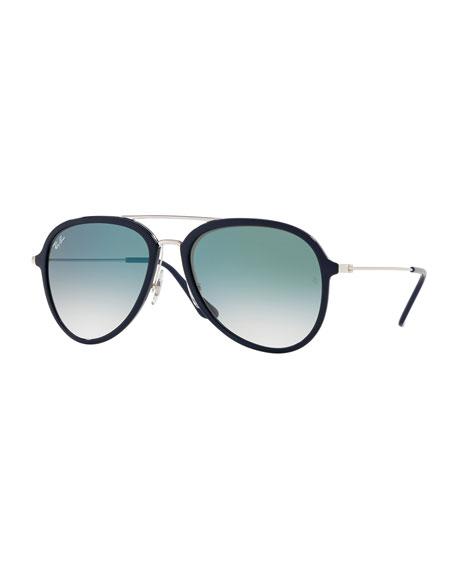 Ray-Ban Gradient Aviator Metal Sunglasses