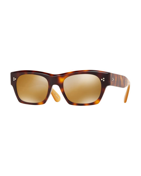 Oliver Peoples Isba Mirrored Plastic Sunglasses - Washed