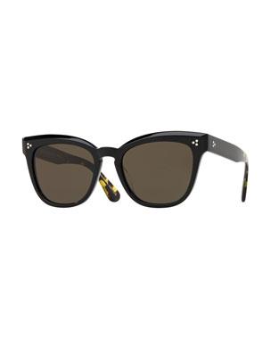 49c5463c5d Oliver Peoples Marianela Rounded Plastic Sunglasses