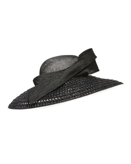 Large Brim Weave Hat