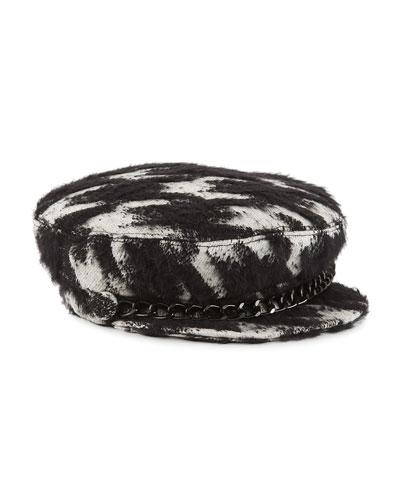 Marina Cotton/Mohair-Blend Newsboy Hat