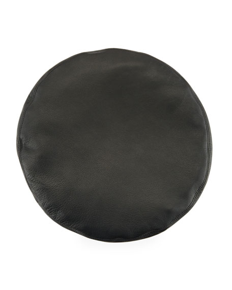 Cher Leather Beret Hat