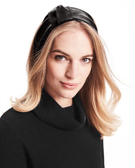 Natalia Leather Headband
