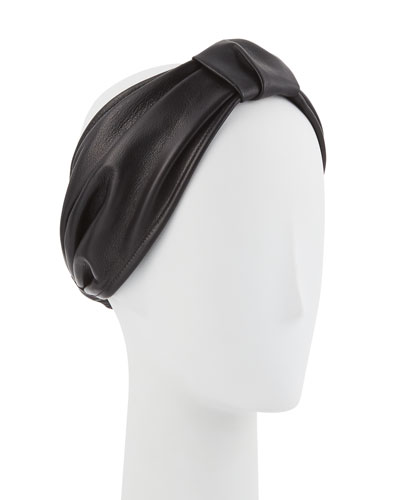 Natalia Leather Headband