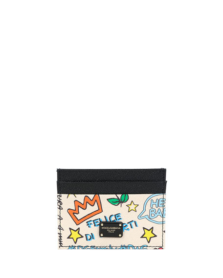 Dolce & Gabbana DG Graffiti Leather Card Case