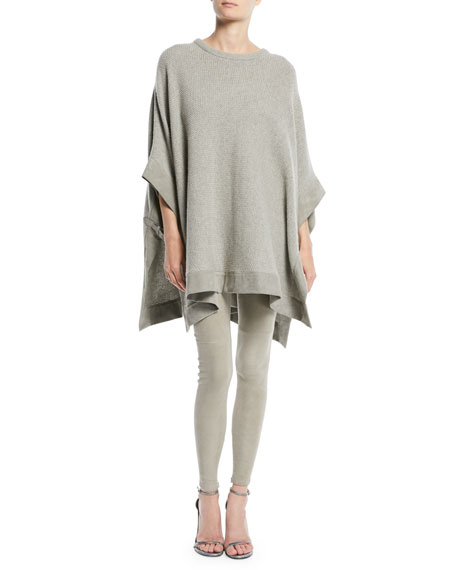 Ralph Lauren Collection Cashmere Poncho w/ Suede Trim