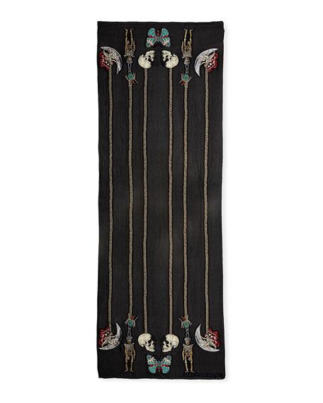 St. Renaissance Charm Silk-Blend Shawl
