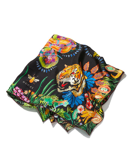 Tiger Leaf Foulard Scarf Scarf