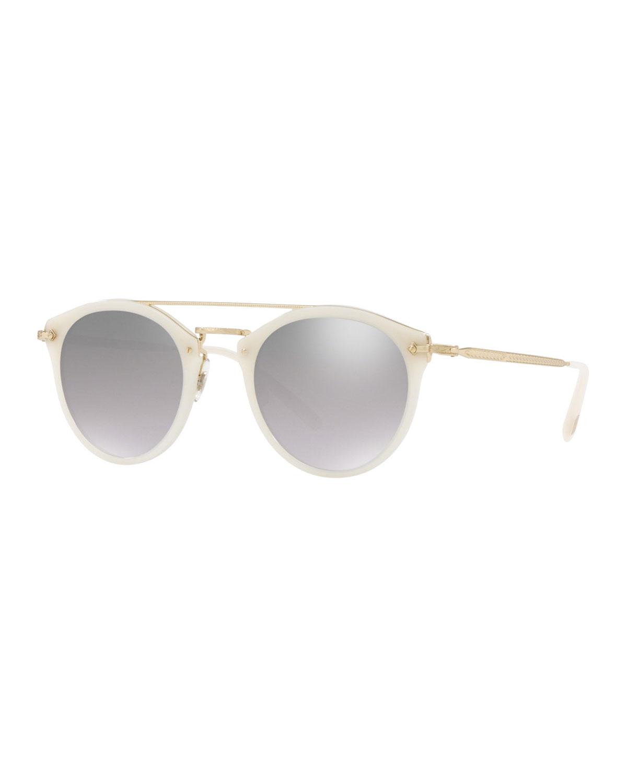 7f38075af5 Oliver Peoples Remick Mirrored Acetate   Metal Sunglasses
