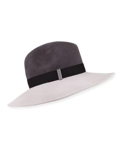 Requiem Wool Wide-Brim Fedora Hat