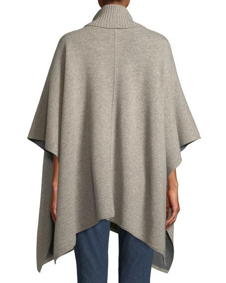 Cashmere Double-Knit Turtleneck Poncho