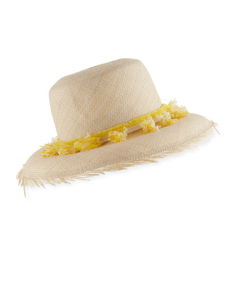 Playa Woven Straw Hat w/ Tassel Trim