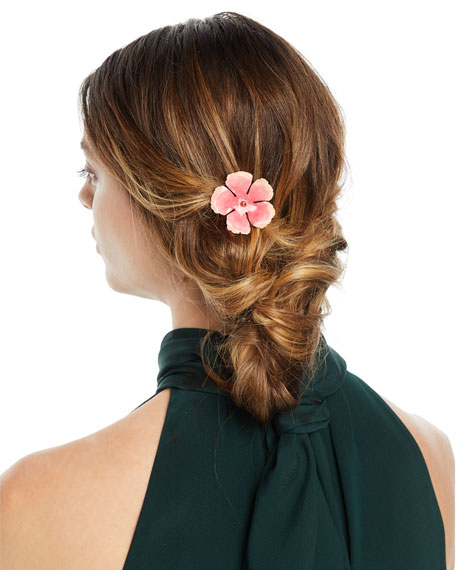 Jennifer Behr Hand-Painted Flower Hairpin