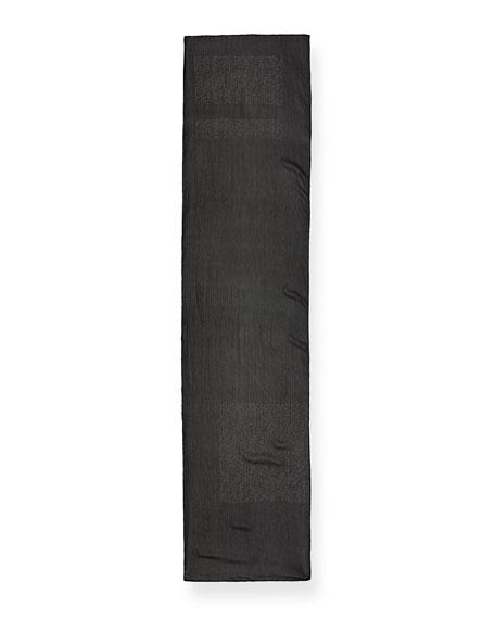 Morse Code Crinkle Silk Scarf