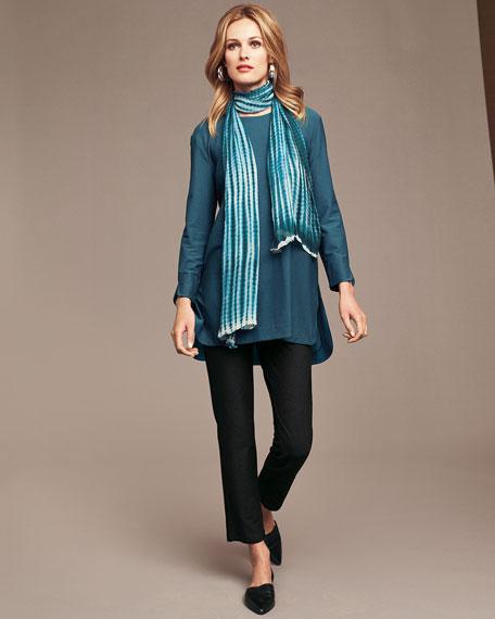Eileen Fisher Crinkle Silk Shibori Scarf