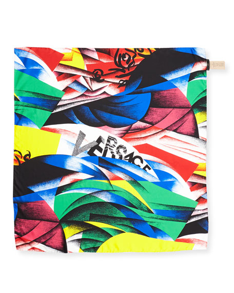 Versace Collection Clash-Print Square Silk Scarf