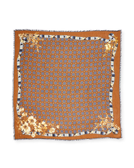 Gallant Blooms Square Scarf