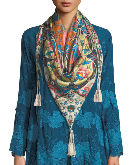 Johnny Was Lentine Silk Georgette Scarf