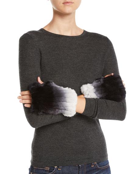 Ombre Rabbit Fur Cuffs