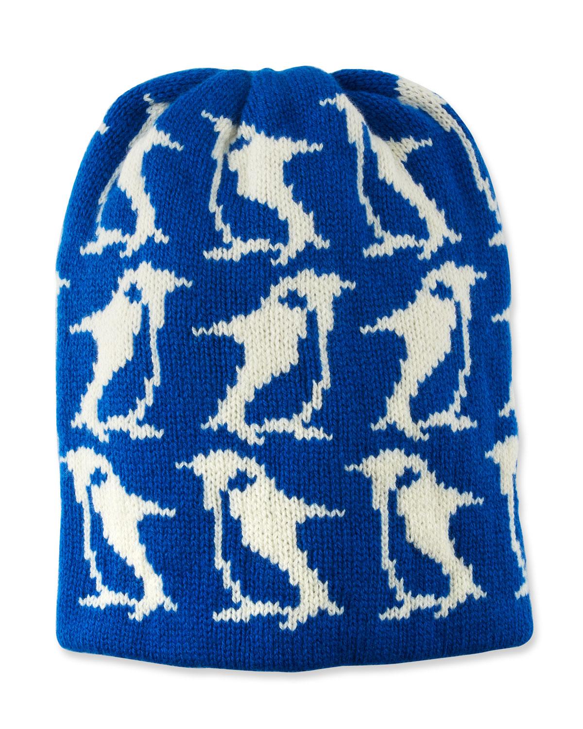 wool-cashmere-penguin-intarsia-beanie-hat by moncler-grenoble